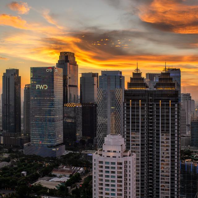 """Sudirman Central Business District / SCBD - Jakarta"" stock image"