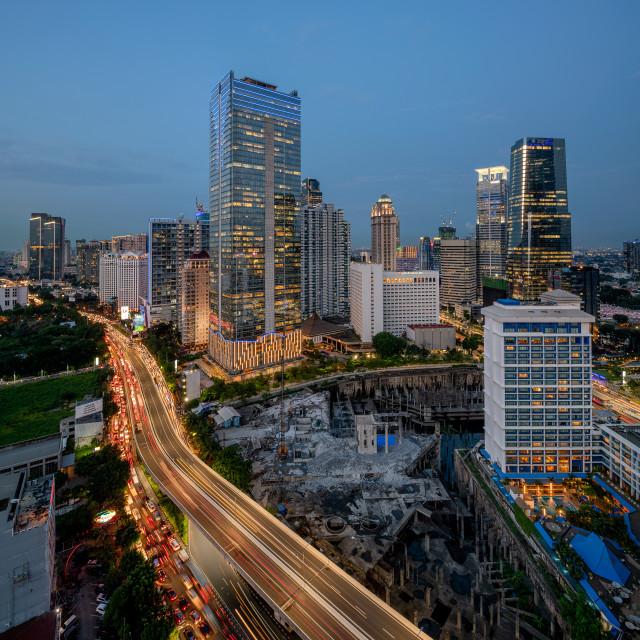 """Sahid Sudirman Center - Jakarta"" stock image"