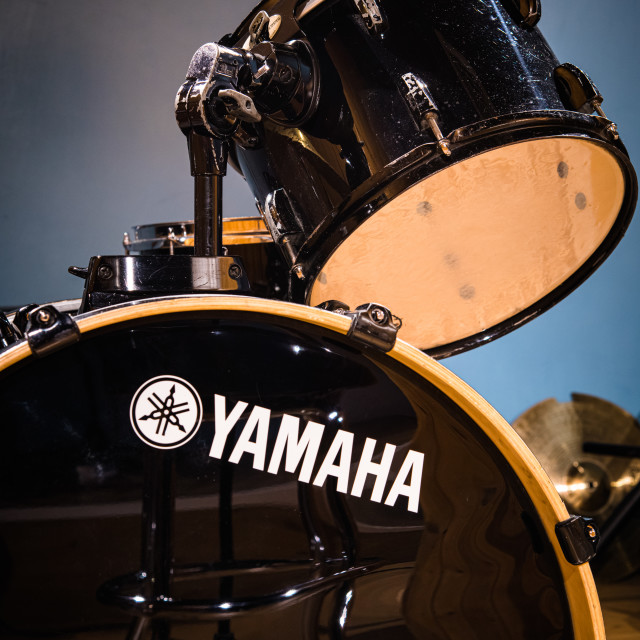 """Yamaha drum kit music equipment logo"" stock image"