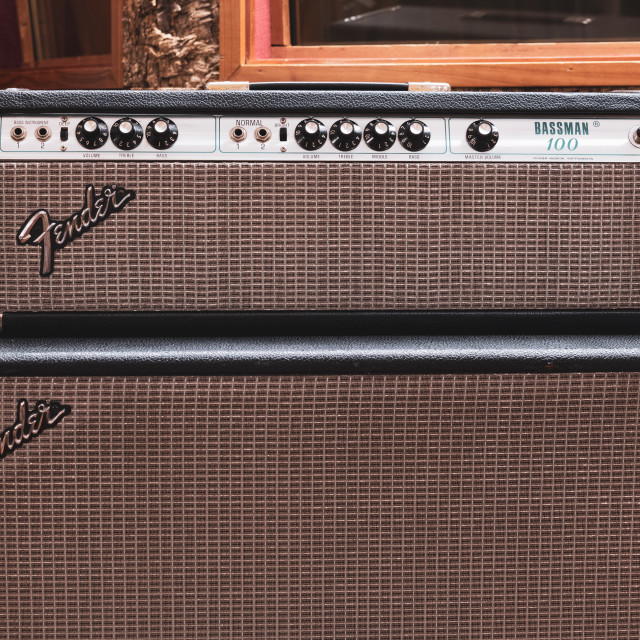 """Fender stage bass amplifier"" stock image"