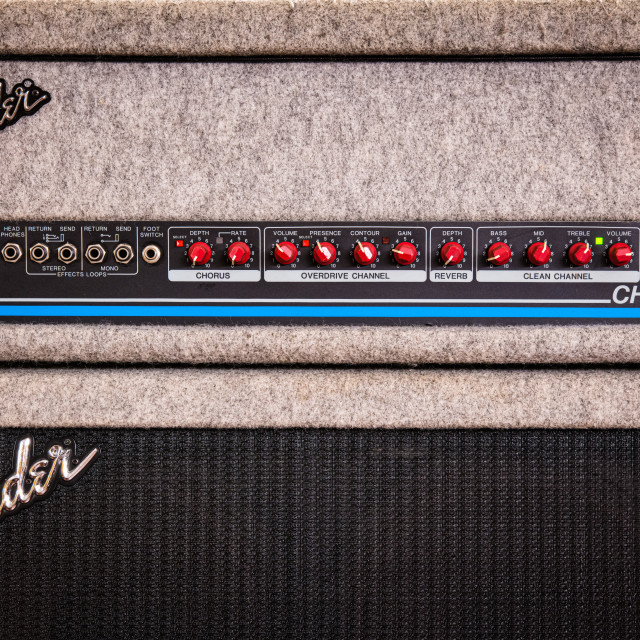 """Fender stage guitar amplifier"" stock image"
