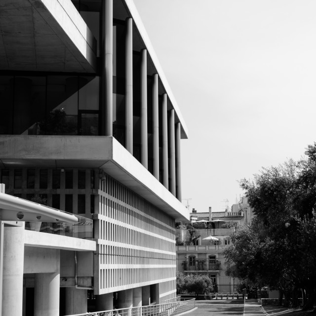 """The Acropolis Museum. Athens, Greece."" stock image"