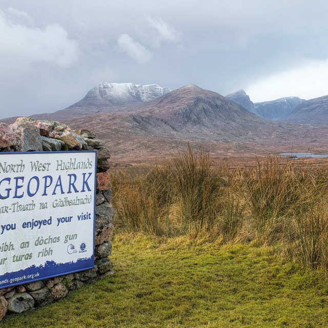 """""""The North West Highlands Geopark"""" stock image"""