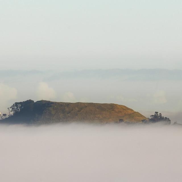 """foggy auckland"" stock image"