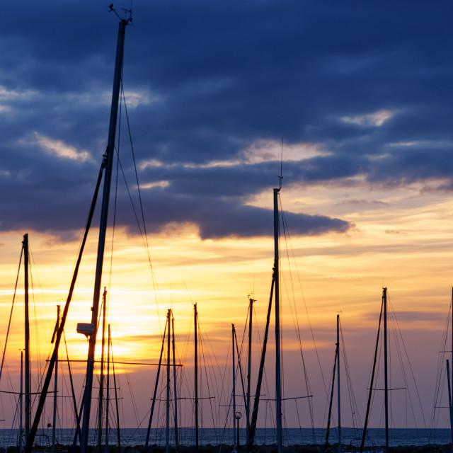 """""""Narbonne plage sunrise"""" stock image"""