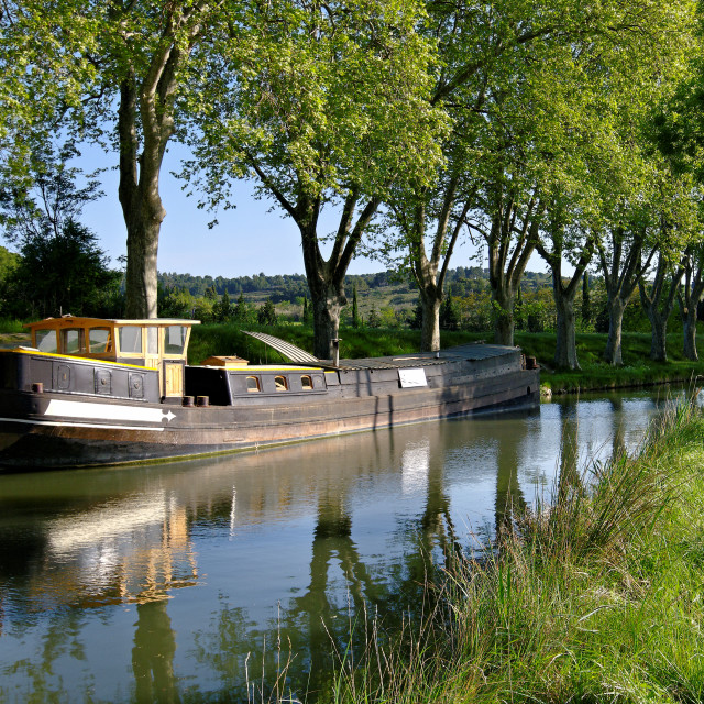"""Canal du Midi"" stock image"
