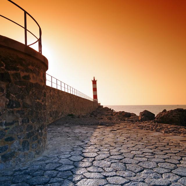 """""""Port la Nouvelle sunrise"""" stock image"""
