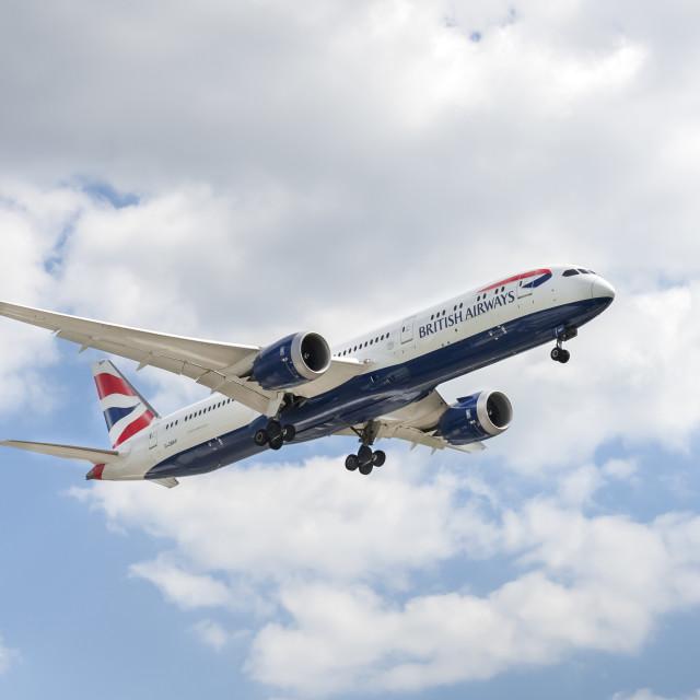 """British Airways Boeing 787 Dreamliner"" stock image"