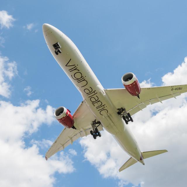 """Virgin Atlantic Boeing 787 Dreamliner"" stock image"