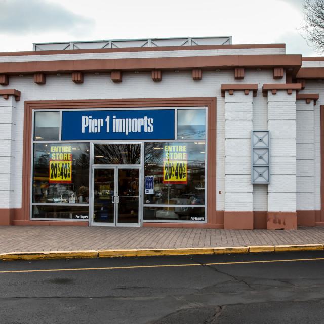 """Pier 1 Imports at 777 Connecticut Av. store in Norwalk"" stock image"