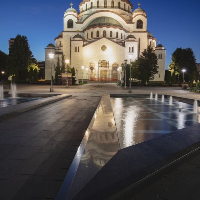 """Church of Saint Sava in Belgrade"" stock image"