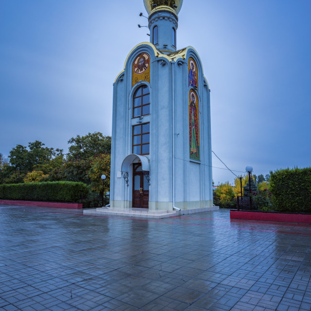 """St. George the Victorious Chapel in Tiraspol"" stock image"