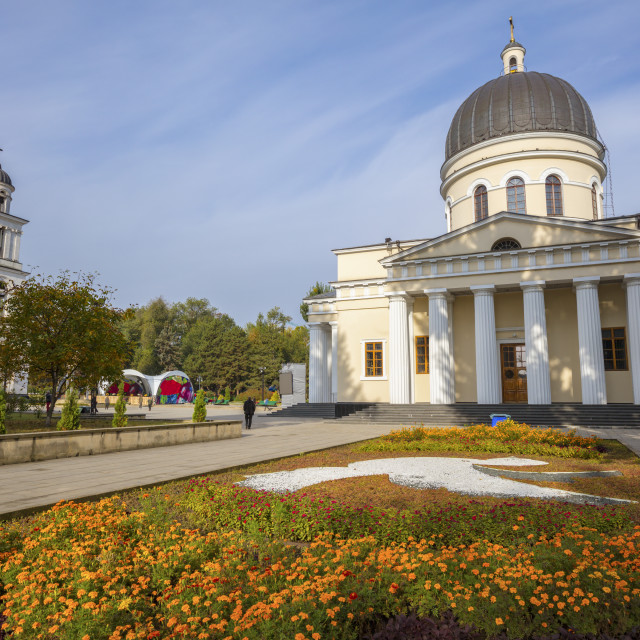 """The Metropolitan Cathedral Nativity of the Lord in Chisinau"" stock image"