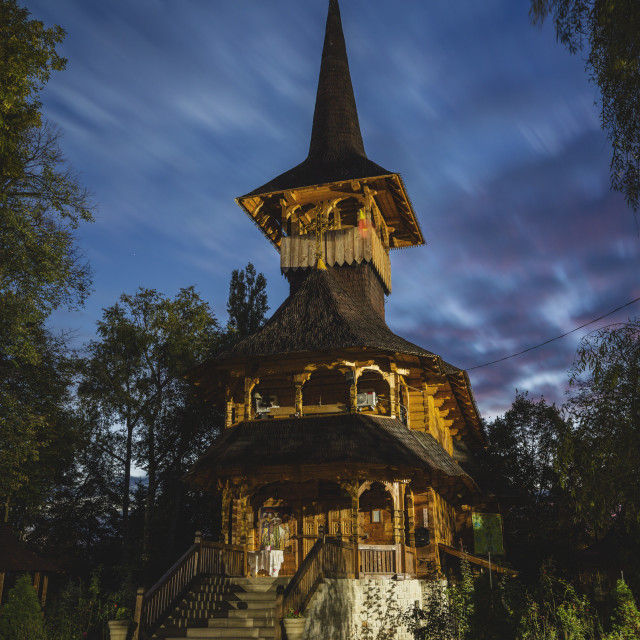 """Wooden church in Soroca"" stock image"