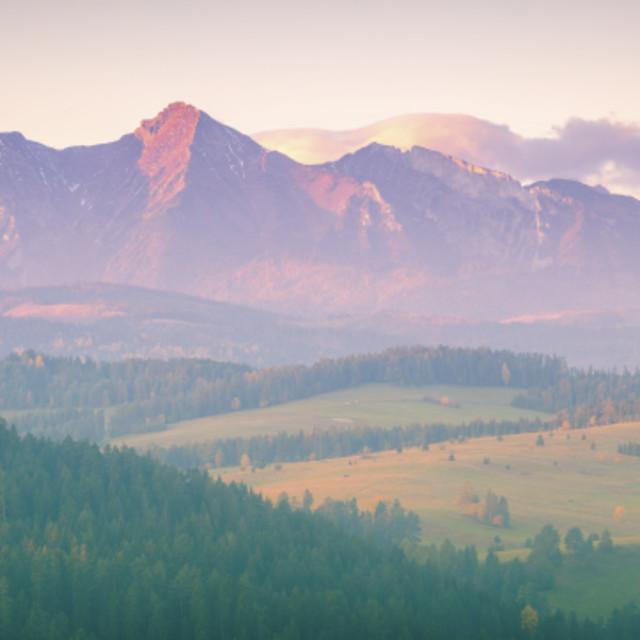 """Tatra Mountains seen from Sromowce Wyzne"" stock image"