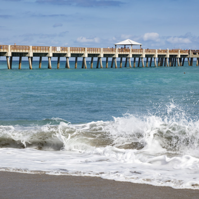 """Juno Beach Pier"" stock image"