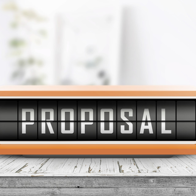 """""""Proposal message on an alarm device"""" stock image"""