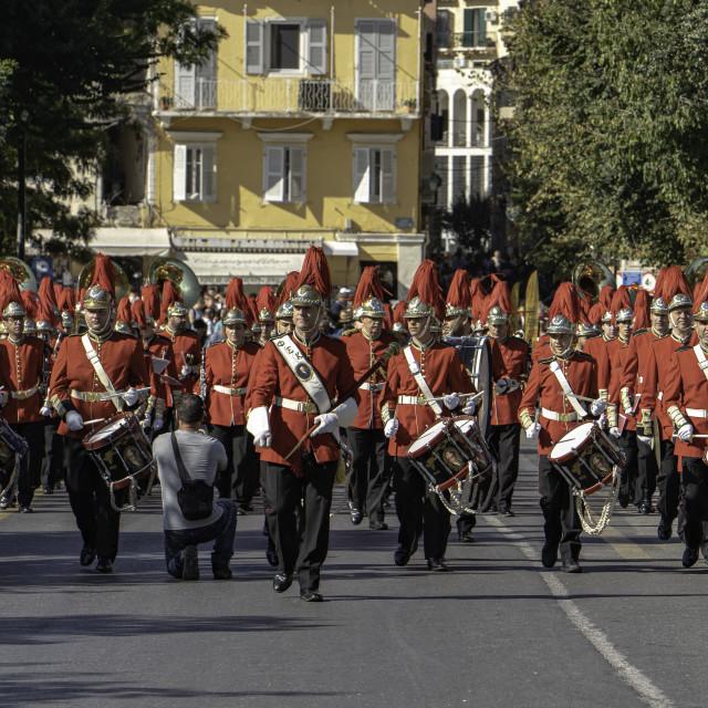 """Corfu Marching Band"" stock image"