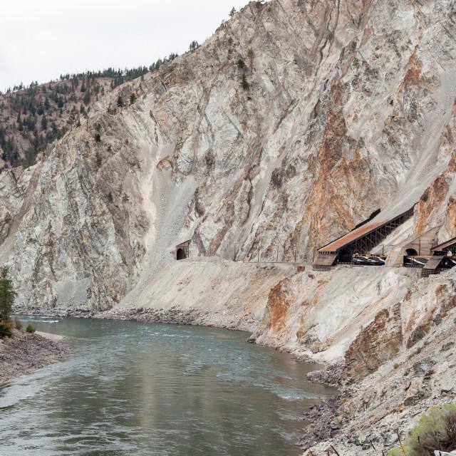 """Rocky Mountaineer train"" stock image"