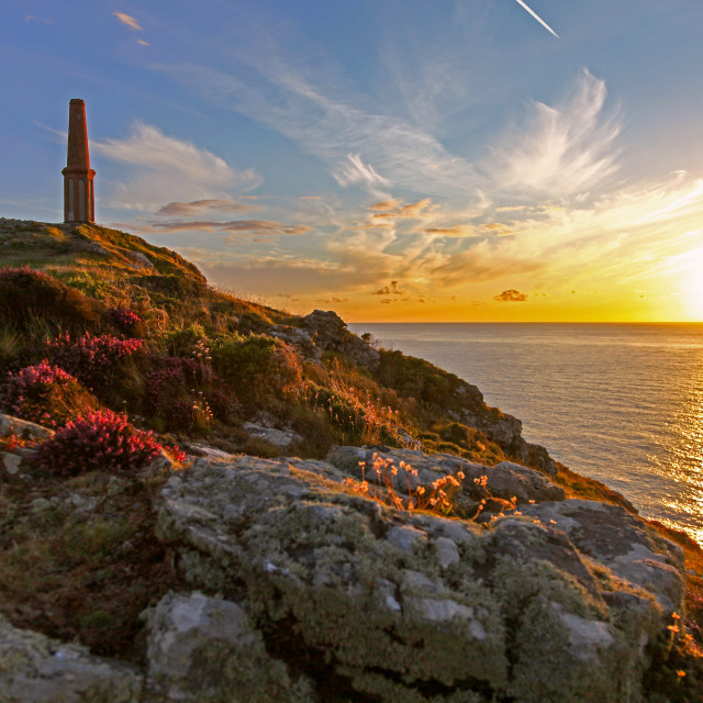 """""""Cape Cornwall, Cornwall, South West England"""" stock image"""