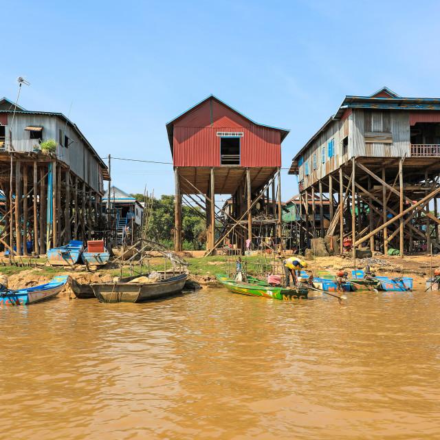 """""""Kampong Phluk, Tonlé Sap Lake, Cambodia"""" stock image"""