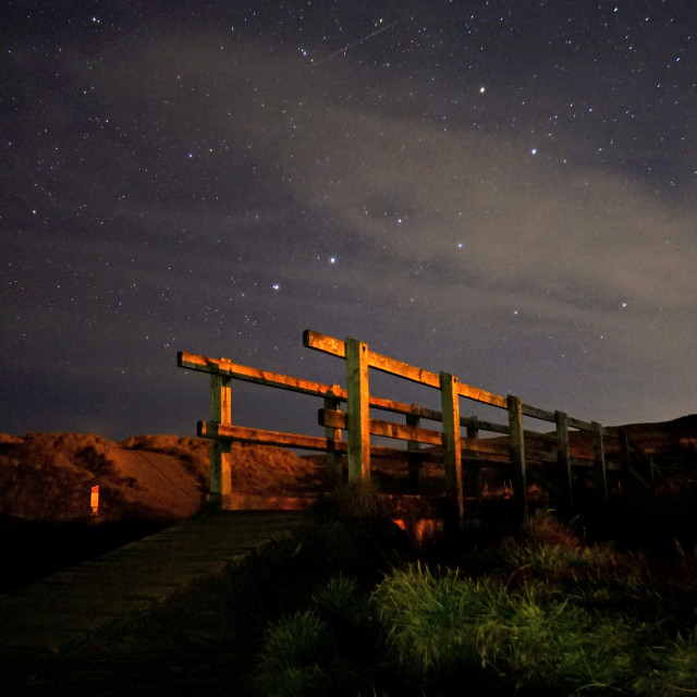 """Star lit bridge"" stock image"