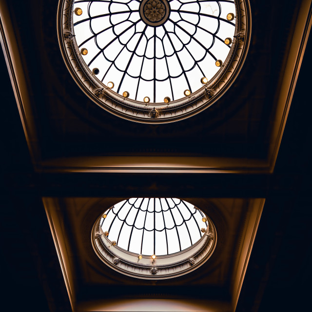 """Fitzwilliam Museum skylight domes."" stock image"