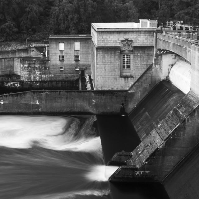 """Pitlochry Dam"" stock image"
