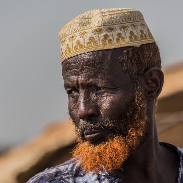 """A man at Djibouti desert"" stock image"