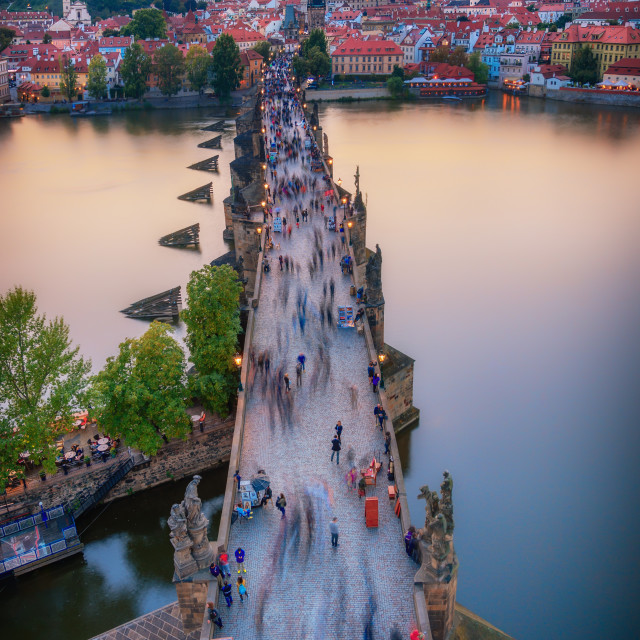 """Beautiful view over Charles Bridge in Prague"" stock image"