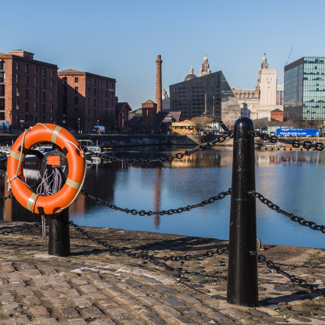 """""""Life ring by Salthouse Dock"""" stock image"""