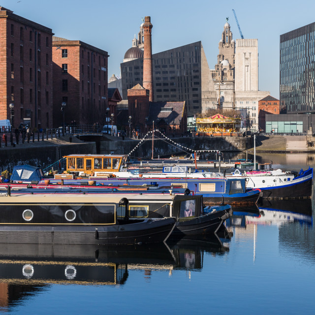 """""""Boats on Salthouse Dock"""" stock image"""
