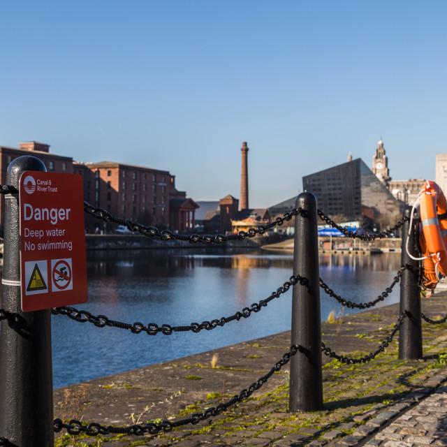 """""""Railings around Salthouse Dock"""" stock image"""