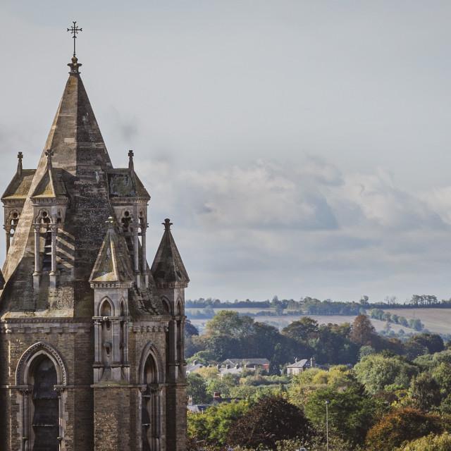 """Emmanuel United Reformed Church Cambridge UK."" stock image"