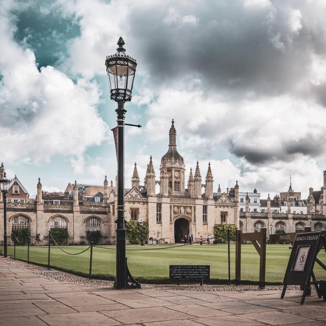 """""""Kings College Cambridge UK."""" stock image"""