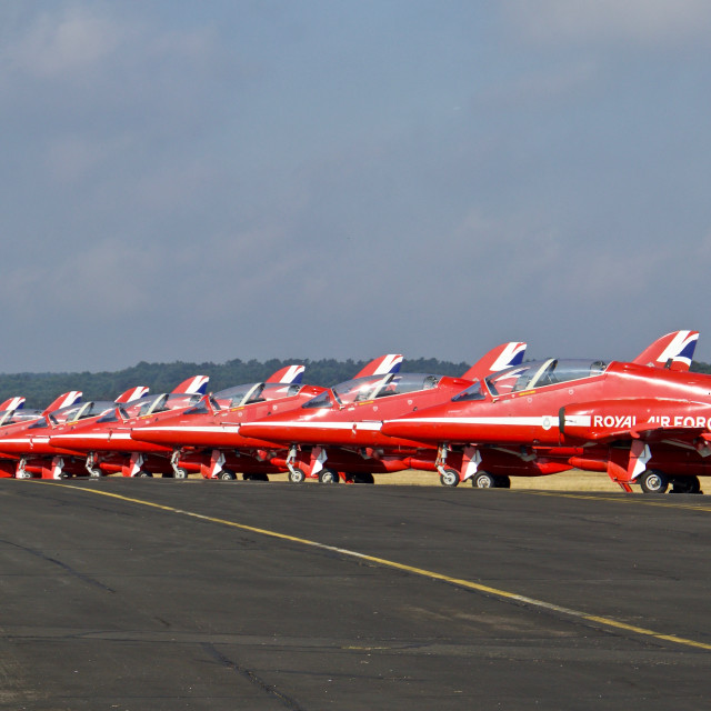 """""""The Red Arrows Display Team"""" stock image"""