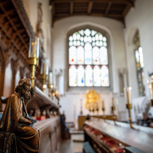 """Great St Mary's Church Cambridge UK."" stock image"