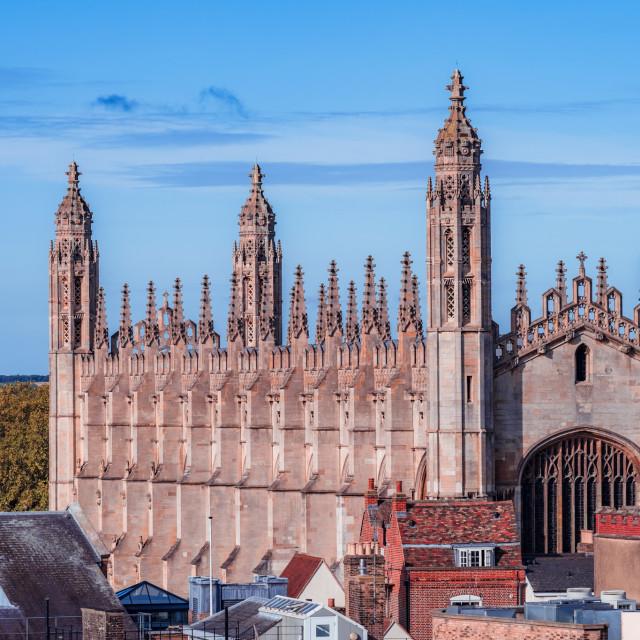 """""""Kings College Chapel Cambridge UK."""" stock image"""