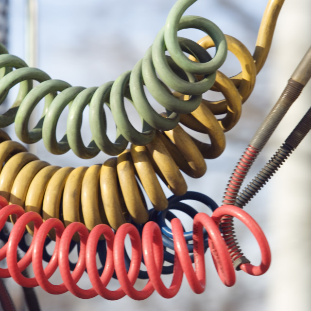 """""""View of a hoses."""" stock image"""