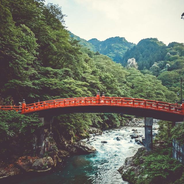 """""""Shinkyo bridge, Nikko, Japan"""" stock image"""