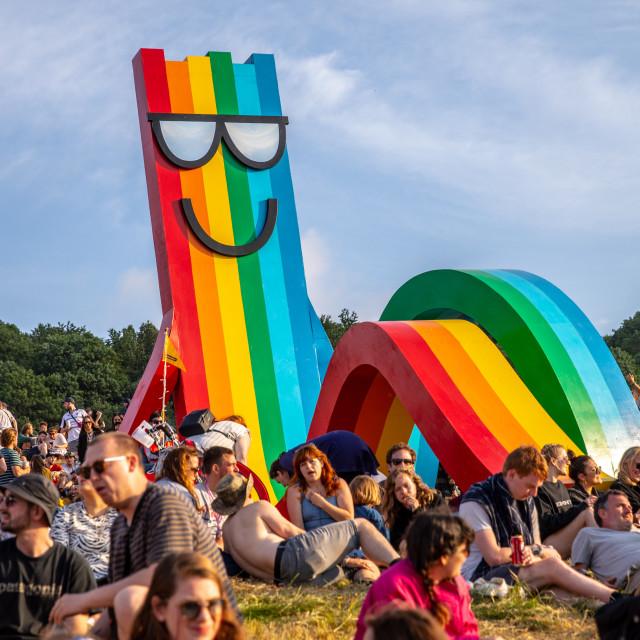 """Glastonbury Festival 2019"" stock image"