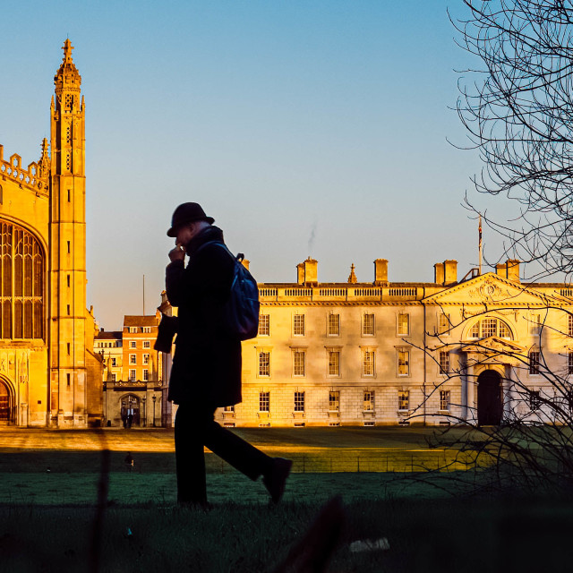 """""""Kings College Chapel Sunset."""" stock image"""
