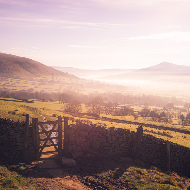 """Edale Valley"" stock image"