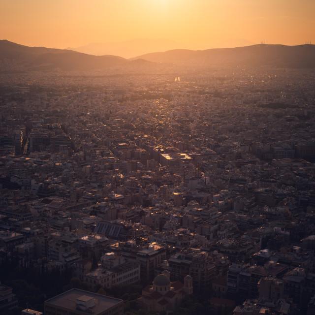 """Athens Sunset"" stock image"