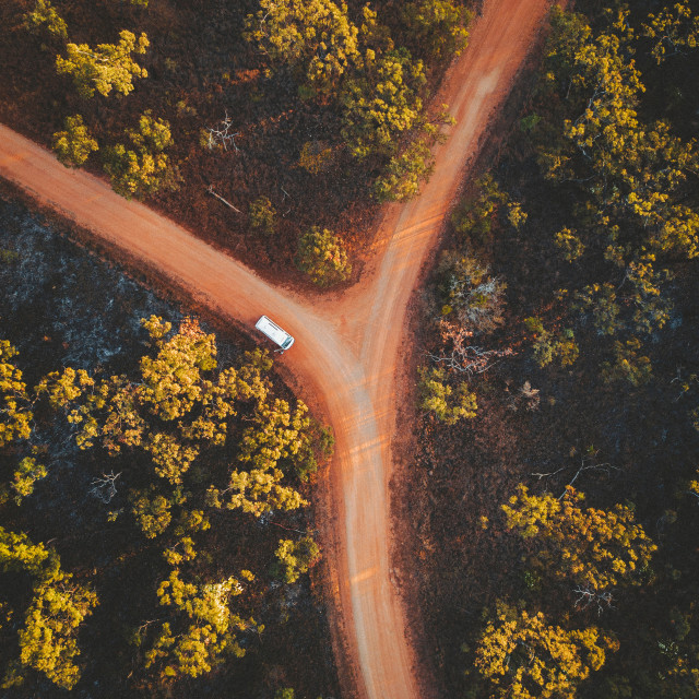 """Dirt Road in Australia"" stock image"