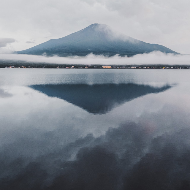 """Reflections of Fujisan"" stock image"