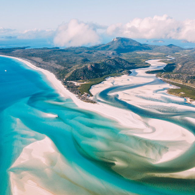 """Whitehaven Beach"" stock image"