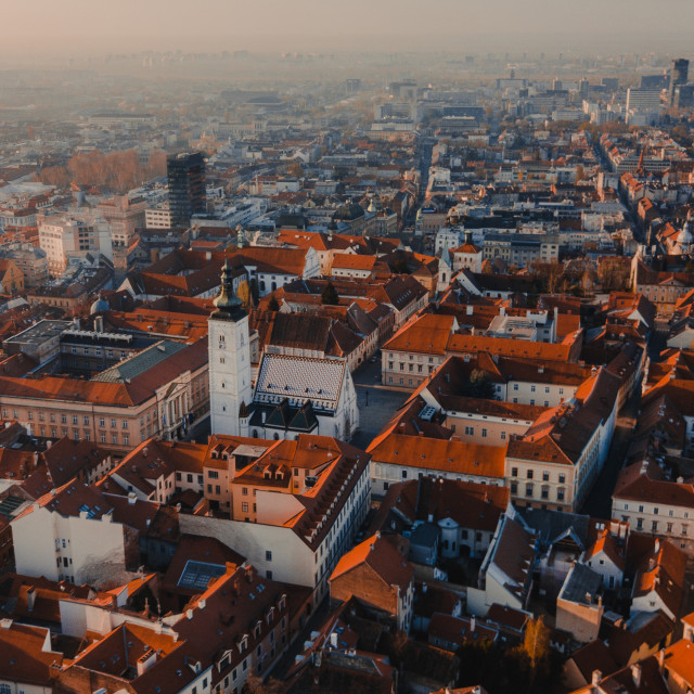 """Zagreb Red City"" stock image"