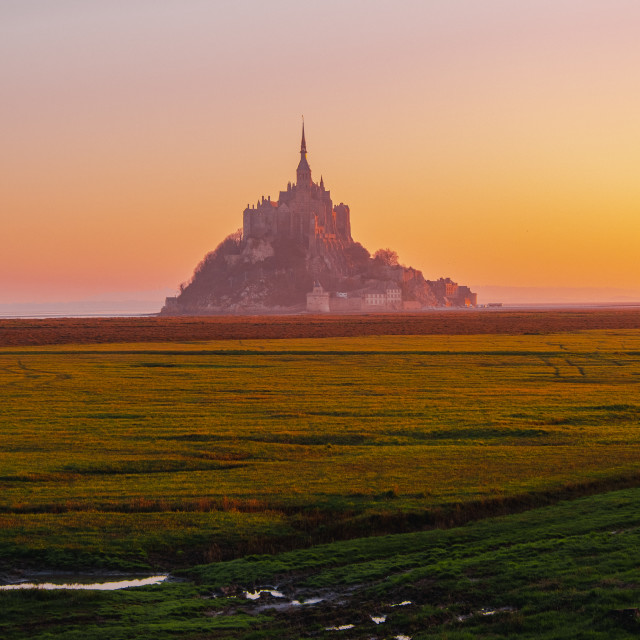 """Mont Saint Michel in Britanny"" stock image"