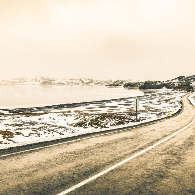 """""""Winding road in remote icelandic national park"""" stock image"""